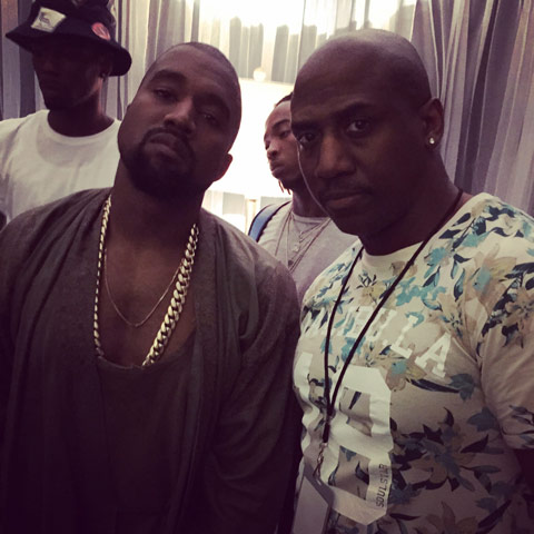 Craig with Kanye West